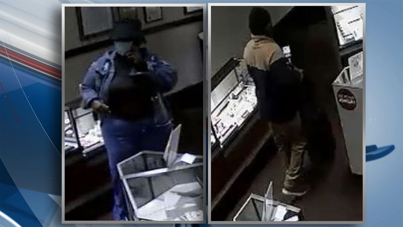 Police are looking for two suspects after a diamond ring was stolen from Helzberg Diamond at...