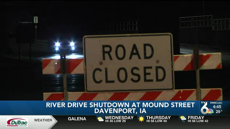 Crews working on River Drive in Davenport ran into unforeseen infrastructure problems and the...
