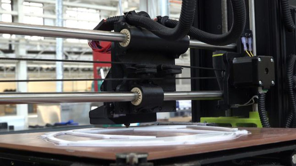Rock Island Arsenal engineers are using 3D printing technology to create personal protective equipment as a reponse to the COVID-19 pandemic. (KWQC)