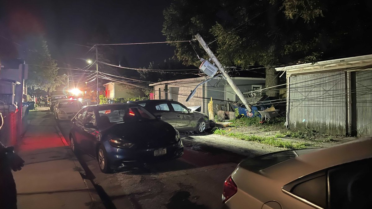 Police are investigating after a vehicle crashed into a light pole in Davenport Friday night.