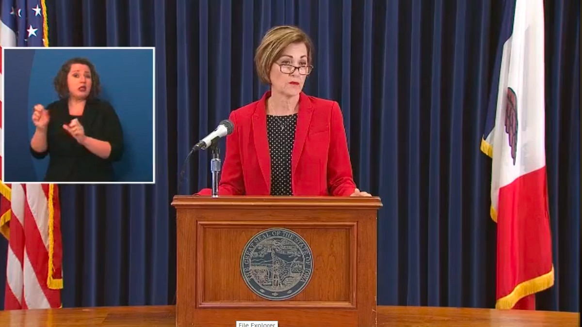 Iowa Governor Kim Reynolds addressed COVID-19 cases and the civil unrest in the state. Reynolds started her conference about the peaceful protests held in Des Moines and other parts of the state. (KWQC)