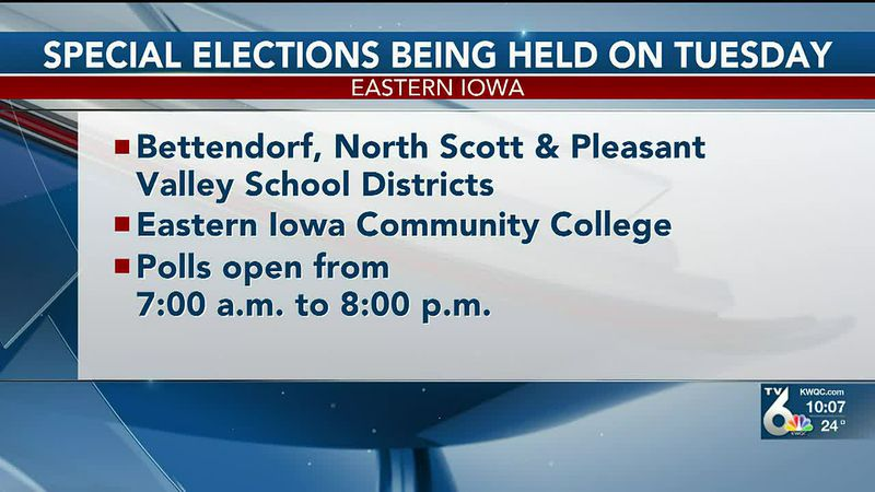 There will be several special elections Tuesday, March 2, in the Bettendorf, North Scott, and...