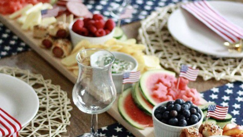 July 4th Grazing Board inspiration for parties, picnics, or any summer occasion from Megan...