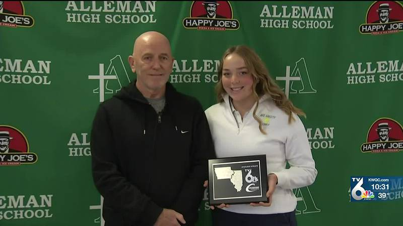 Alleman tennis star Kate Rector is the TV6 Spotlight Athlete of the Week