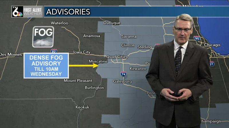 First Alert Forecast - Dense fog overnight, more gray skies Wednesday