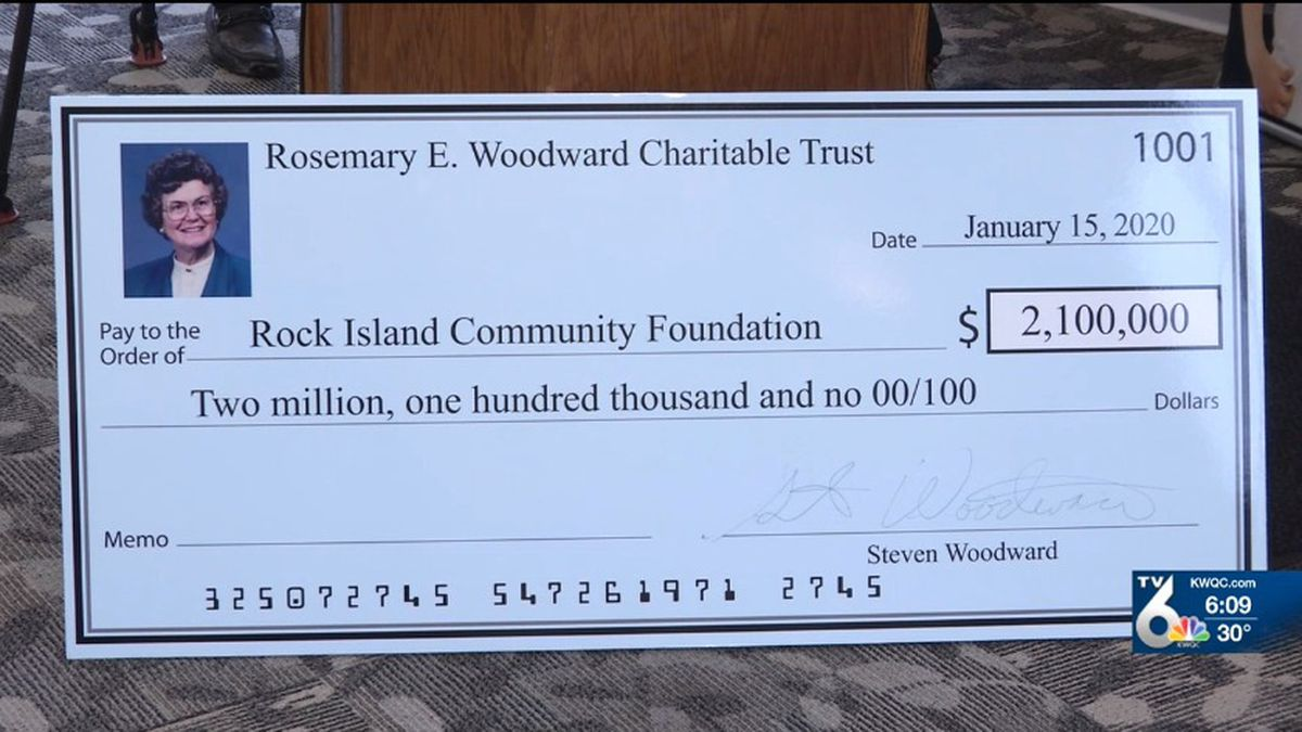 The Rock Island Community Foundation received a donation on Wednesday of $2.1 million. (KWQC)