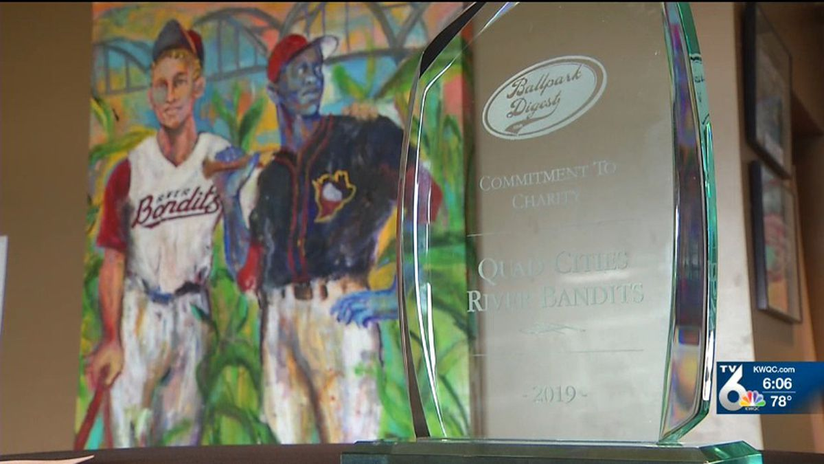 The Quad Cities River Bandits were honored on a national level for their flood relief efforts on Thursday. (KWQC)