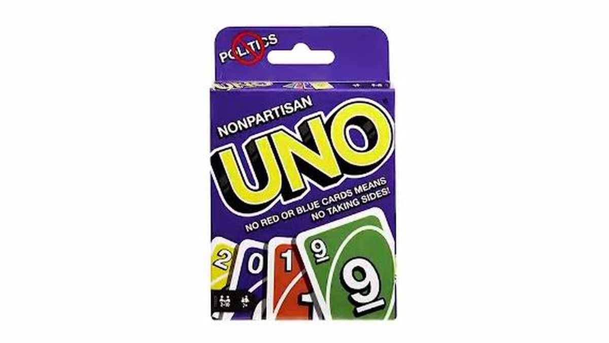 A new Uno deck aims to keep families Thanksgiving dinner politics-free. Mattel's limited-edition nonpartisan Uno deck removes the classic red and blue cards which could be seen as politically-charged. (CNN)