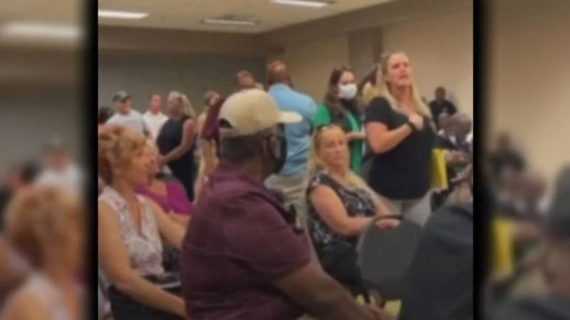 Anti-maskers disrupted a community meeting in Clark County, Nevada, just before a state mask...