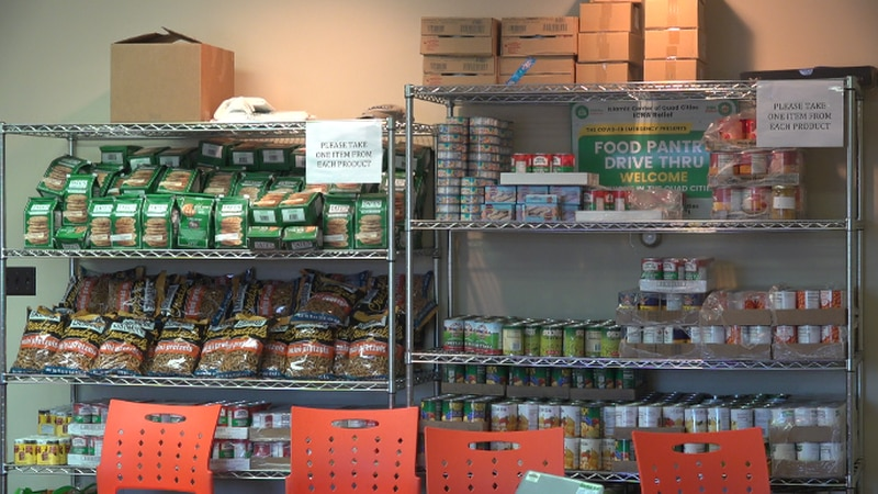 The Islamic Center of the Quad Cities says they've distributed 96,770 pounds of food in their...