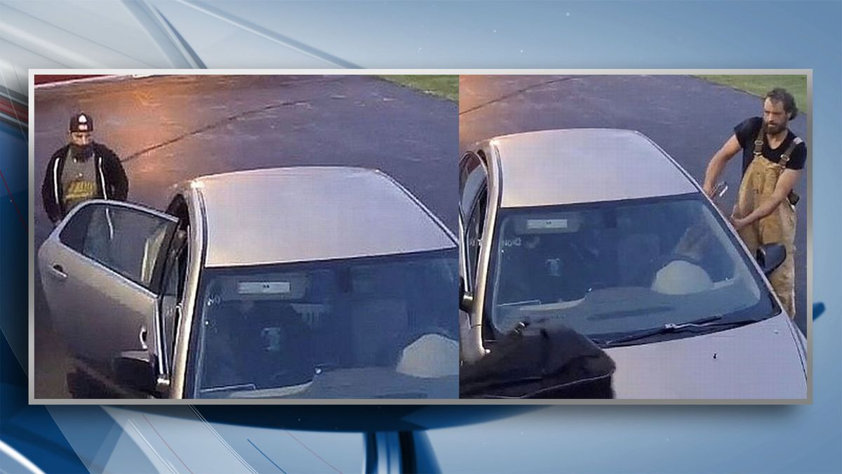 On October 10, police say the two men pictured above, broke into two storage sheds at the Davenport Public Storage.