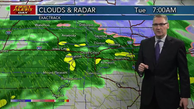 First Alert Forecast - Wintry Mix with accumulating snow by Tuesday morning
