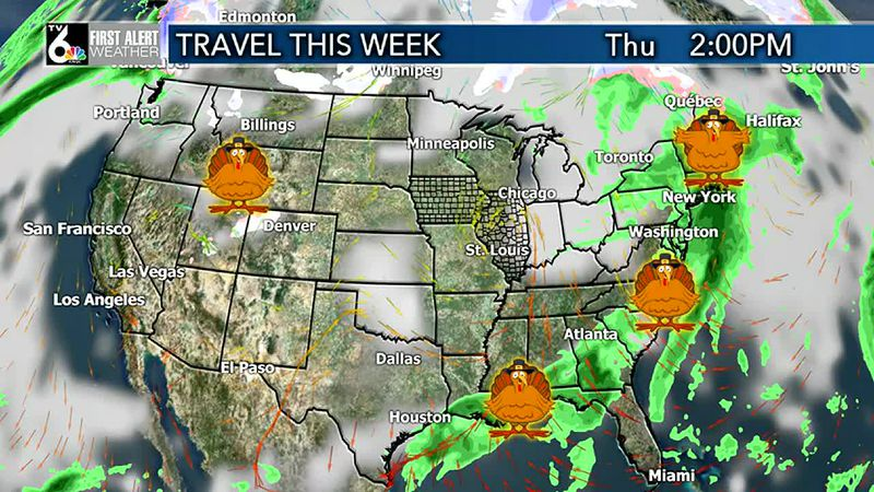 Day by day Thanksgiving week travel