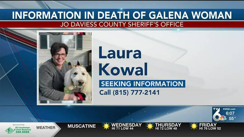 The Jo Daviess County Sheriff's Office is seeking information on the 2020 death of a Galena...
