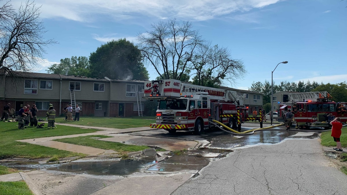The fire was reported at approximately 3:45 p.m. at the Loma Linda Apartments in Silvis, IL.