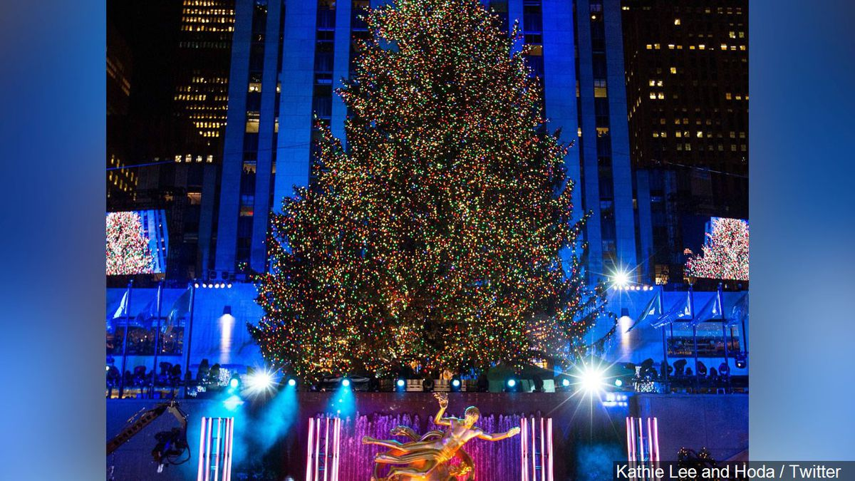 Christmas tree lighting at Rockefeller Center in New York scheduled for tonight