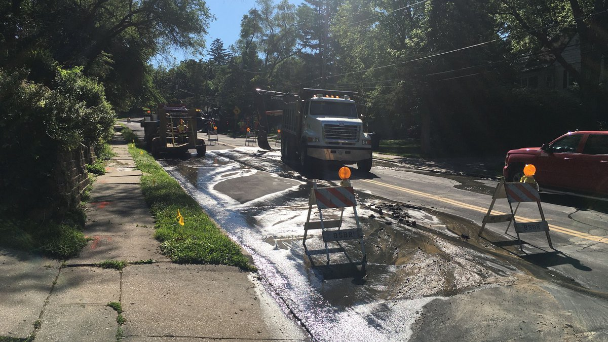 A portion of Middle Road in Davenport has been closed due to a water main break. Officials with...