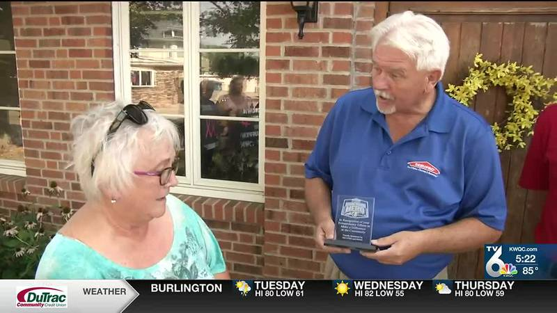 Sherry Stauffer is recognized as a TV6/ServPro Hometown Hero