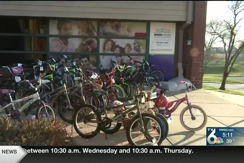 The Friendly House in Davenport is giving away bikes for the holidays in collaboration with the...
