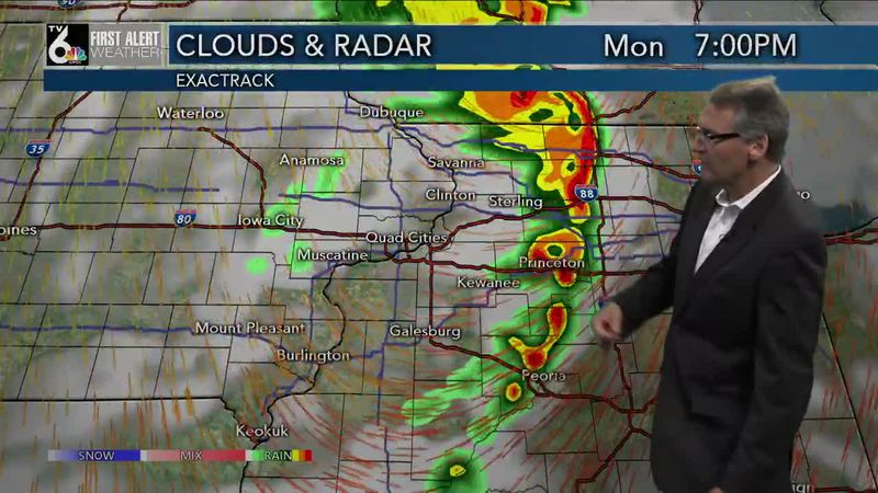 First Alert Forecast - Chance for rain Sunday night, better chance for storms Monday