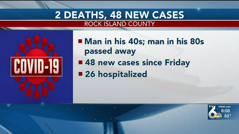 The Rock Island County Health Department Monday reported two more deaths from COVID-19,...