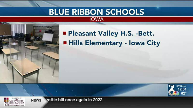 Pleasant Valley High School is one of five Iowa schools recognized by the U.S. Department of...