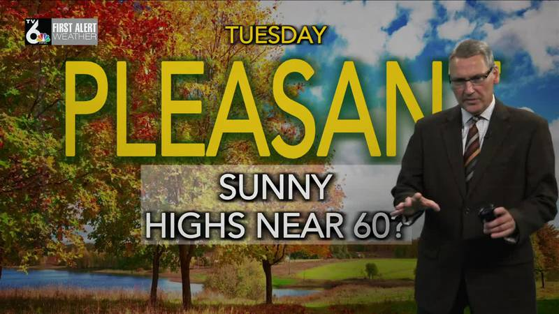 First Alert Forecast - After a chilly night Tuesday brings mild sun