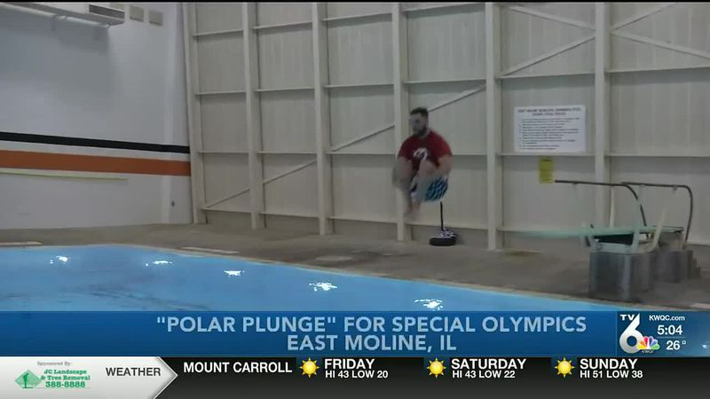 It's not your traditional Polar Plunge, but some took a dive at United Township High School...