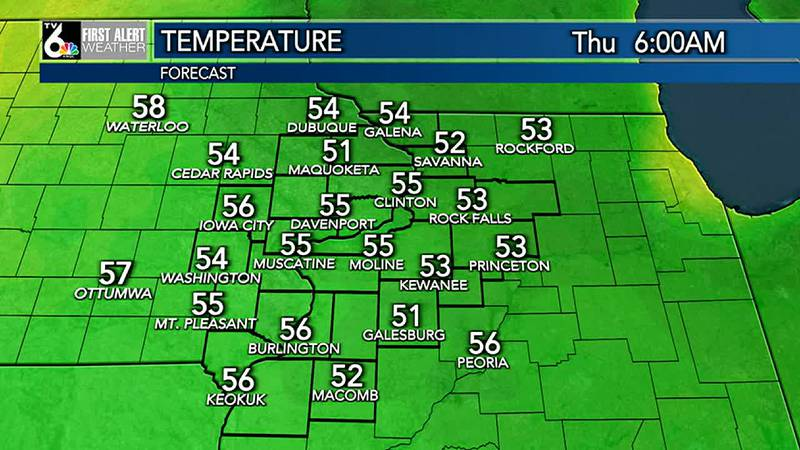 We'll go from clear and cool conditions overnight to warm sunshine for your Thursday. Look for...