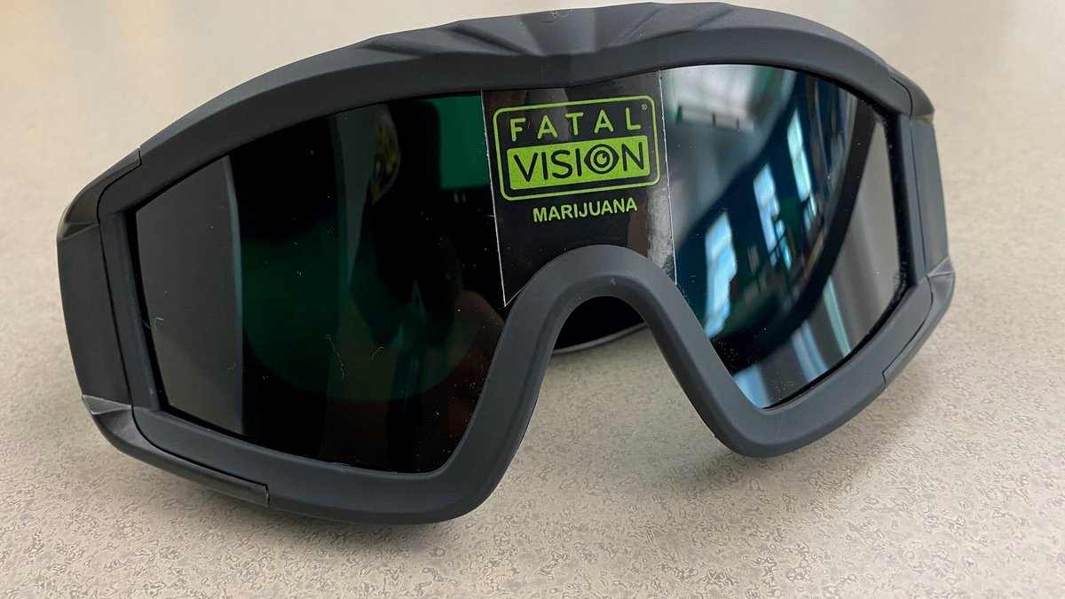 The Moline Police Department shared a photo of the goggles in a Facebook post on Thursday.