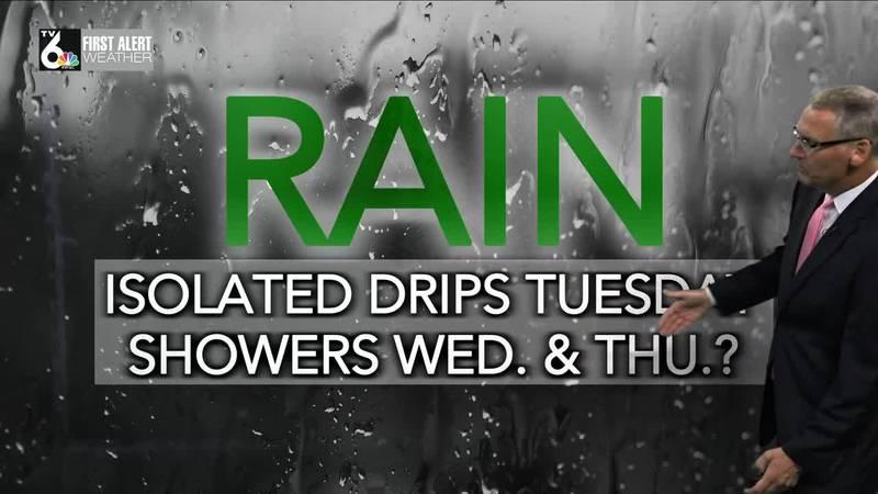 First Alert Forecast - Lots of clouds but little rain till Wednesday & Thursday