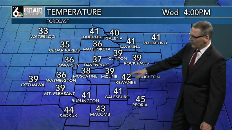 First Alert Forecast - Temps drop a bit over the next couple days but melting will continue