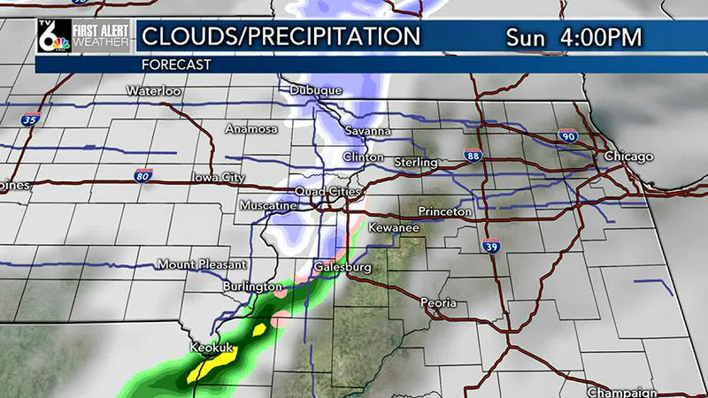 Rain and snow moving in this afternoon--watch out for slippery roads. Highs from the 30's north...