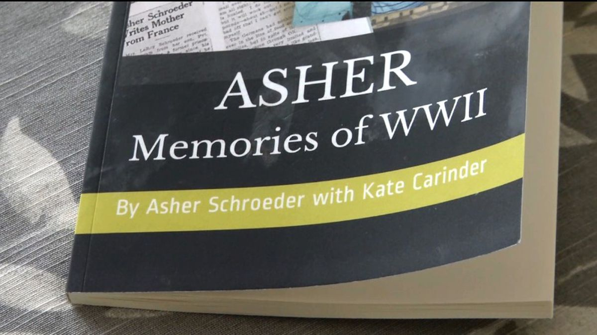 Army veteran, Asher Schroeder, is the author of this book about his time during World War Two.