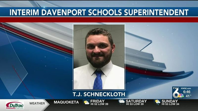 The Davenport Community School District's interim superintendent has been released from the...