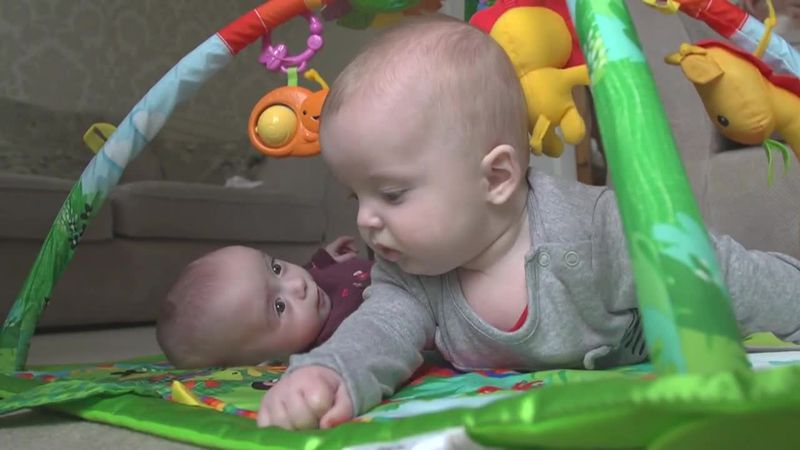 """A mom gives birth to so called """"super twins."""" The babies were conceived three weeks apart."""