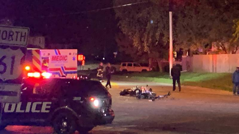 An accident blocked the intersection of Brady and Central Park around 11 p.m.