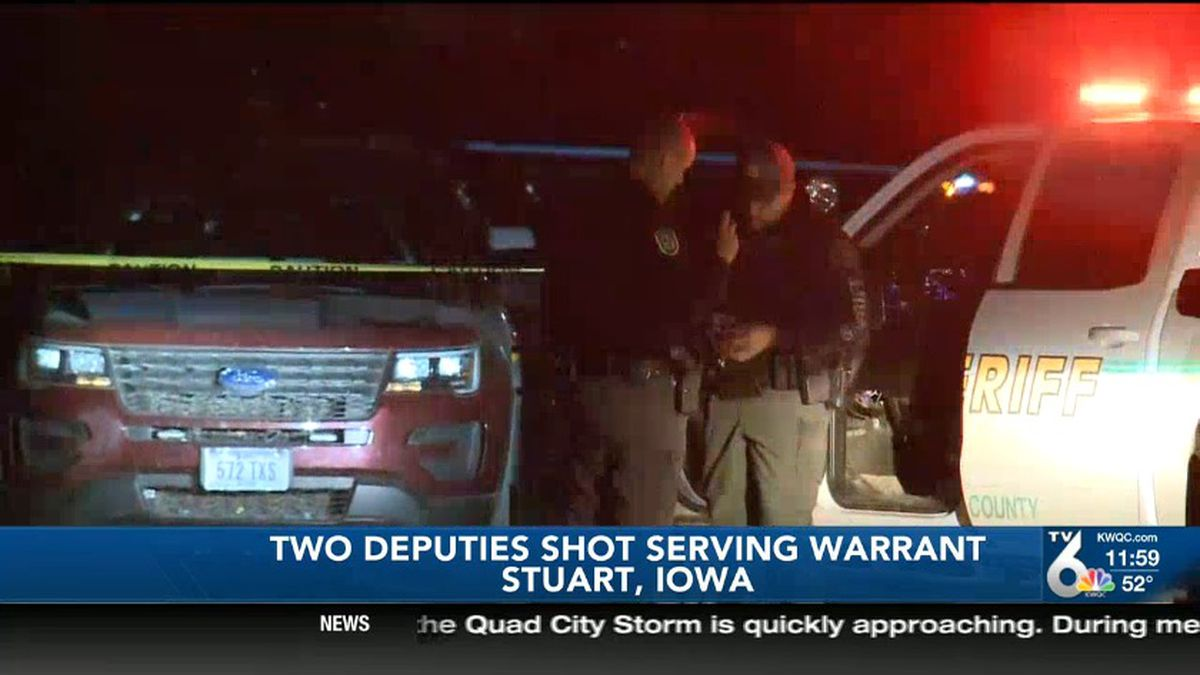 Authorities say three Guthrie County Sheriff's deputies along with a Stuart police officer went to an apartment to arrest a suspect when someone inside the apartment started shooting at them. (NBC)