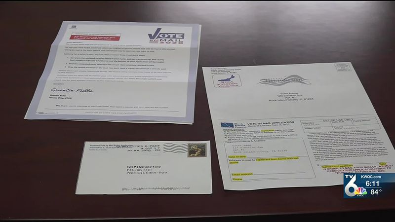 Multiple mail-in ballot request forms are being delivered to each voter, and officials say...