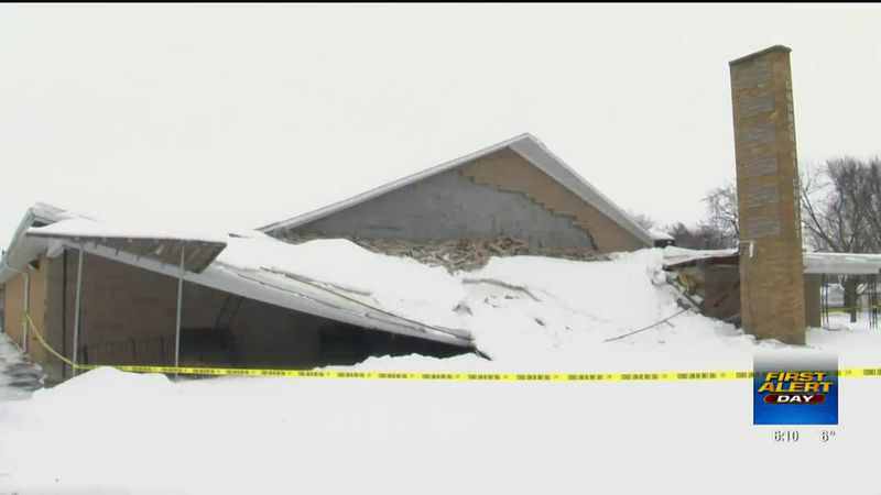 Sterling church collapses after Thursday's winter storm
