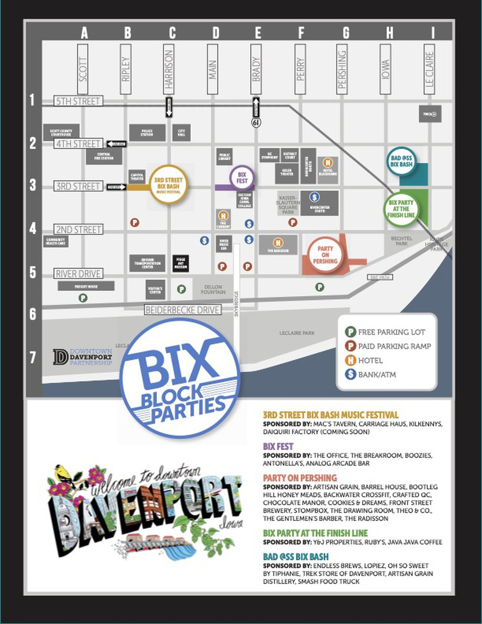 The Bix Block Party lineup has been announced ahead of the annual Bix weekend. City officials...