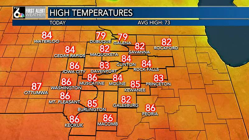 Look for clear skies tonight, then more warm sunshine Wednesday. Highs should reach the 80's to...