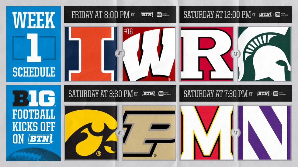 The Big Ten released the schedule for the first week of games beginning on October 23.