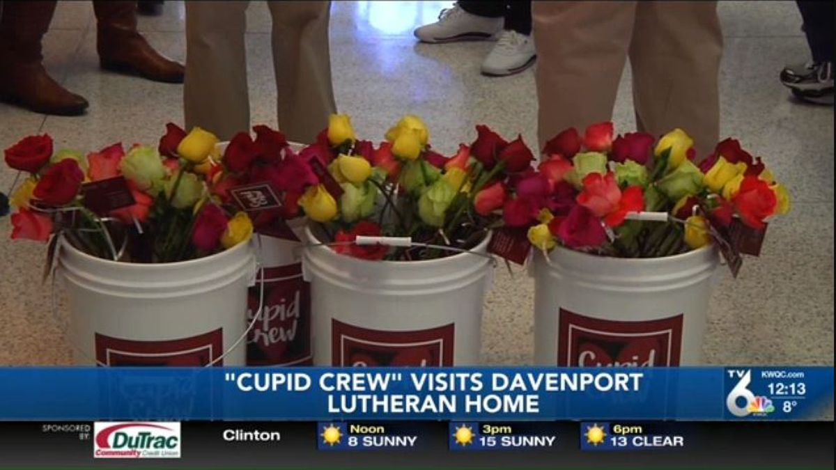 People living at the Davenport Lutheran Home are feeling the love this Valentine's Day. There were even some tears as the Cupid Crew distributed red roses to residents Friday morning. (KWQC)