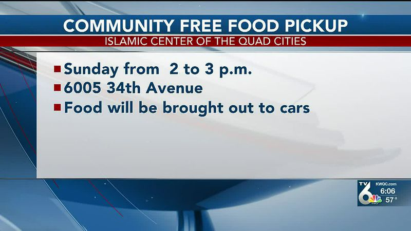 Islamic Center of the Quad Cities holding free food pickup