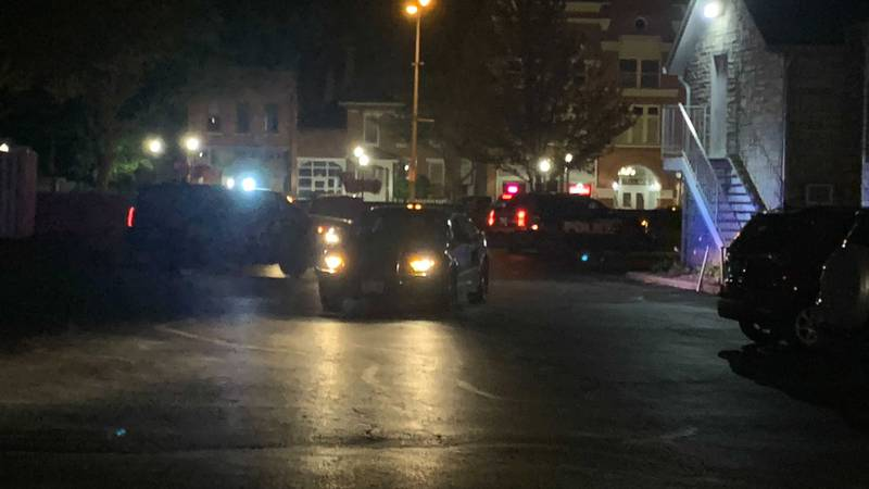 A police presence was seen Thursday night in downtown Davenport.