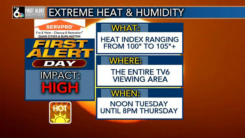 First Alert Forecast - First Alert Days in effect for extreme heat and humidity, AGAIN!