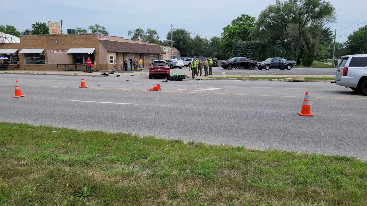 A portion of State Street was blocked following a car accident involving a motorcycle.  Our TV6...