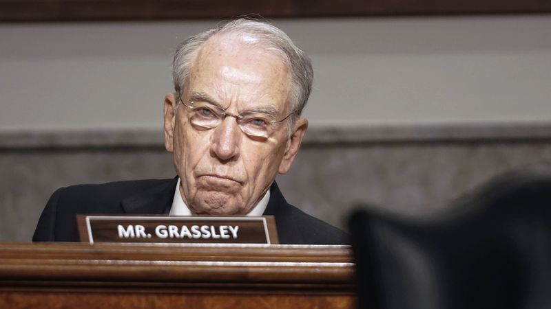 Sen. Chuck Grassley, R-Iowa, questions former Deputy Attorney General Rod Rosenstein testifies...