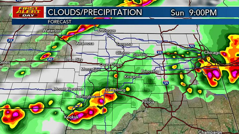 FIRST ALERT DAY in effect until Midnight for strong to severe storms.